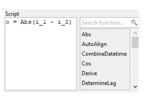 Python based formula editor in Visplore